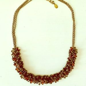 Amber + Copper Beaded Necklace